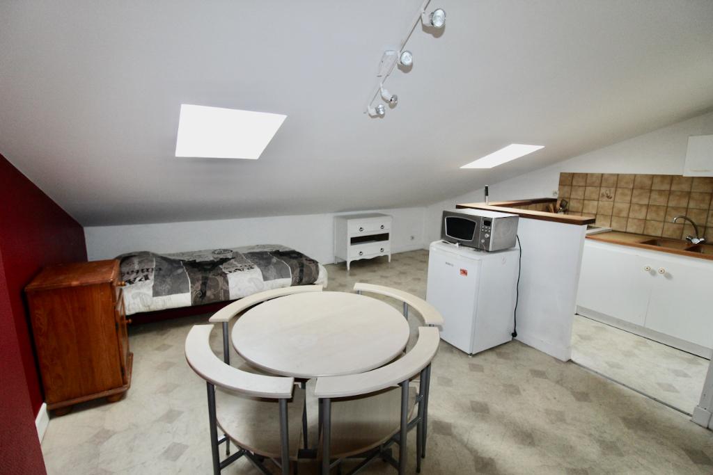 Villeneuve-Sur-Lot, à deux pas de l'IFSI. Très bien situé et à proximité des commerces et de l'IFSI,  agréable studio de de 12,51 m² (20 m2 au sol)  entièrement meublé comprenant une pièce de vie et une salle d'eau.