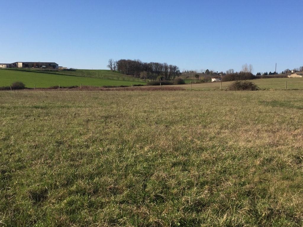 Entre Villeneuve sur Lot (47300) et Monflanquin (47150), terrain à lotir d'environ 13090 m2. Terrain plat, raccordable au tout à l'égout.